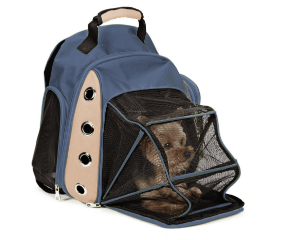 Dog Carrier Mesh Travel Backpack Double Shoulders Straps Bag for Small Pet Puppy Cat