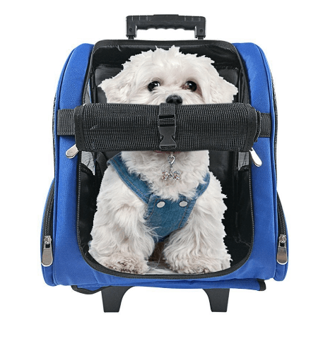 HARBO Pet Travel Carrier Rolling Backpack for Dogs