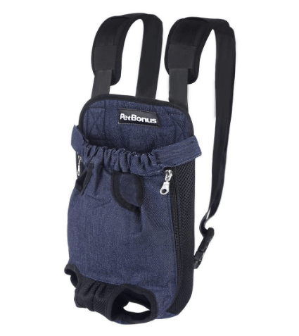 PetBonus Denim Blue Front Kangaroo Pouch Dog Carrier