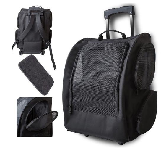 Rolling Backpack Travel Pet Carrier