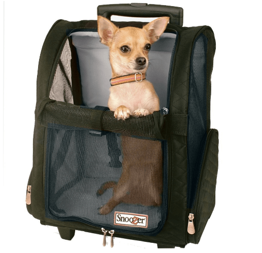 Snoozer Roll Around 4-in-1 Pet Carrier, Black