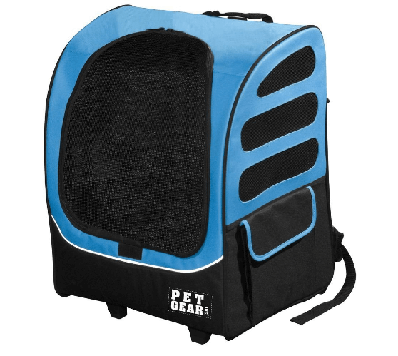Traveler Rolling Backpack Carrier for Small Cats and Dogs