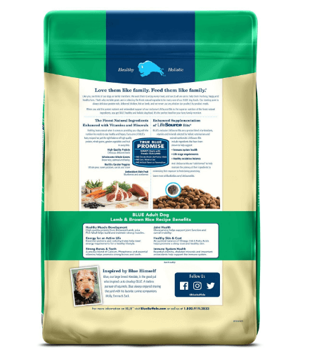 BLUE Life Protection Formula Adult Lamb and Brown Rice Dry Dog Food