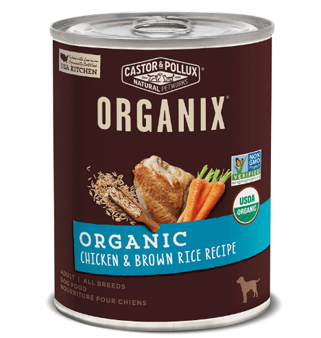 Castor Pollux Organix Organic Chicken Brown Rice Recipe Wet Dog Food