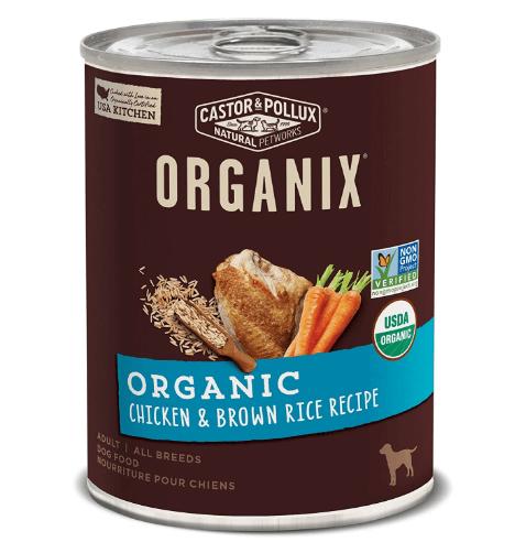 Castor Pollux Organix Organic Chicken Brown Rice Recipe Wet Dog Food