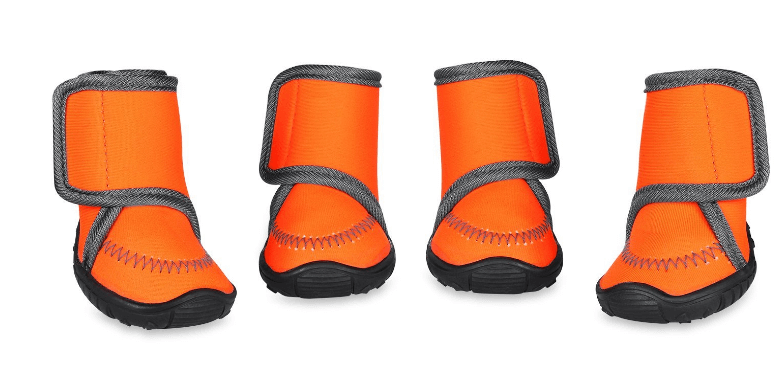 Dog Boots Waterproof Paw Protectors Dog Shoes with Adjustable Straps