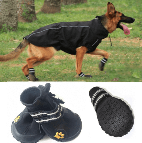 Dog Boots,Idepet Waterproof Dog Shoes for Medium to Large Pets