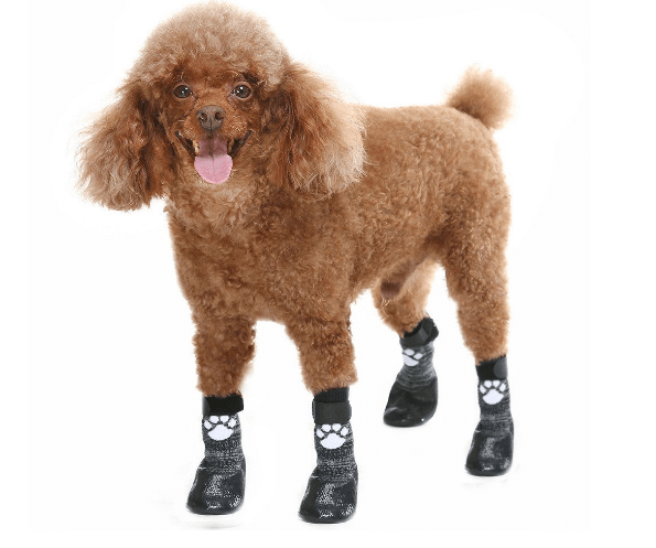 Dog Socks Anti Slip with Straps Traction Control Waterproof Paw Protector