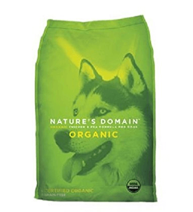 Kirkland Signature Natures Domain USDA Organic Chicken & Pea Formula Dry Dog Food