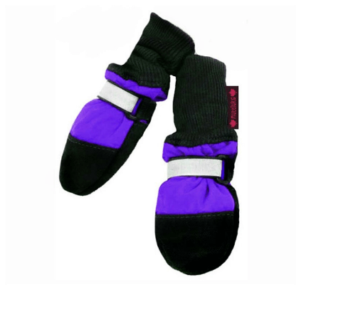 Lined Purple Dog Boots