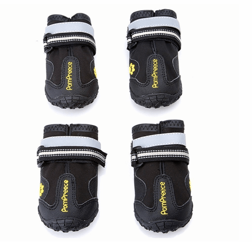 Maxshop 4 Pcs Waterproof Rugged Dog Shoes Pet Boots