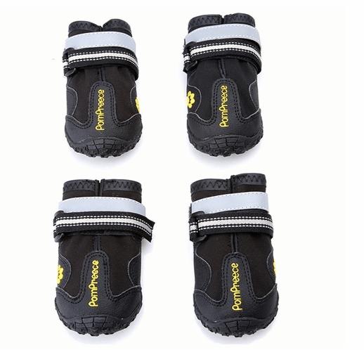 Maxshop 4 Pcs Waterproof Rugged Dog Shoes Pet Boots