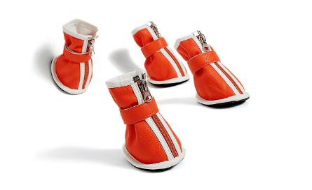 Medium to Large Dog Faux Leather Shoes