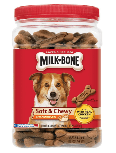 Milk Bone Soft and Chewy Chicken Bones Treats For Dogs