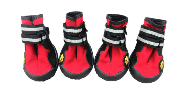 New Dog Shoes Four Pieces Waterproof Paw Protector Pet Boots
