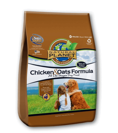 PET FOOD 131575 Tuffy Natural Planet Organics Chicken and Oats Food for Dogs