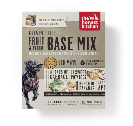 The Honest Kitchen Grain Free Fruit Veggie Base Mix Recipe for Dogs
