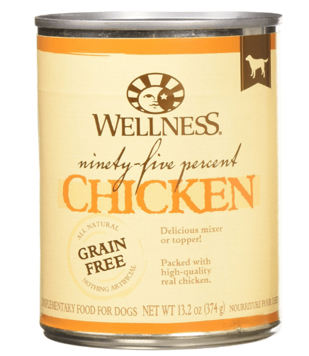 Wellness 95% Chicken Natural Wet Grain Free Canned Dog Food