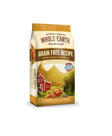 Whole Earth Farms Grain Free Chicken Turkey Recipe Dry Dog Food