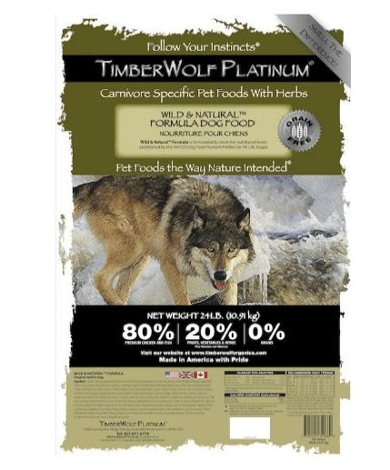 Wild Natural Legends dog food