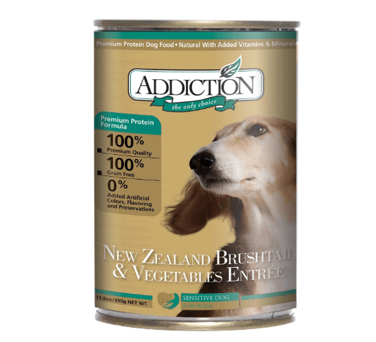 Addiction New Zealand Brushtail & Vegetables Grain Free Canned Dog Food