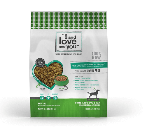 I and love and you In the Raw Raw Raw Lamb Boom Ba Homemade Freeze Dried, Grain Free Dehydrated Dog food