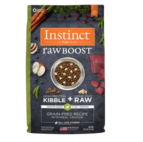 Instinct Raw Boost Grain Free Recipe with Real Venison Natural Dry Dog Food