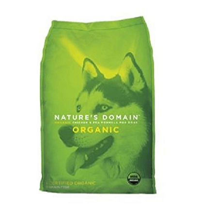 Kirkland Signature Nature Domain USDA Organic Chicken & Pea Formula Dry Dog Food