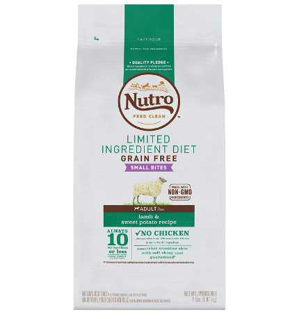 Nutro Limited Ingredient Diet Small Bites Adult Lamb & Sweet Potato Recipe Dog Food