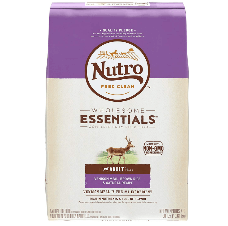 Nutro WHOLESOME ESSENTIALS Adult Venison Meal, Brown Rice & Oatmeal Recipe Dry Dog Food