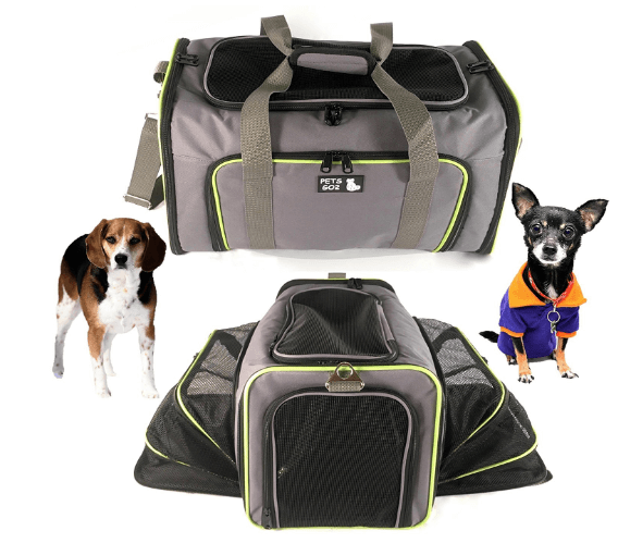 Pet Carrier for Dogs & Cats - Airline Approved Premium Expandable Soft Animal Carriers