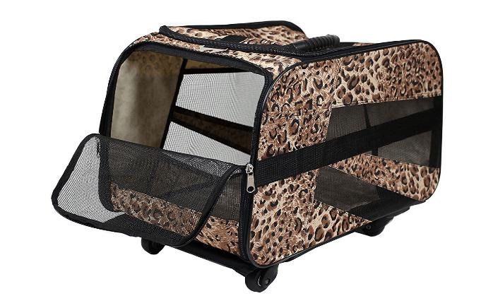 Pet Smart Cart, Small, Cheetah, Rolling Carrier