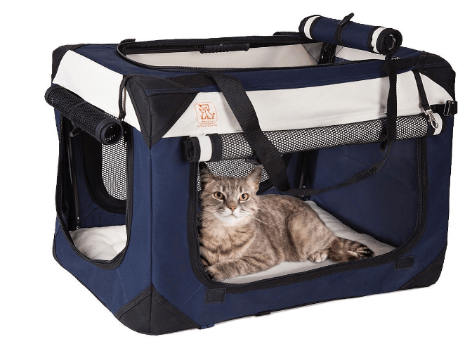PetLuv Soothing Happy Cat Medium - Large Premium Soft Sided Cat Carrier