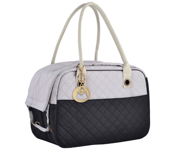 Stylish Quilted Soft Sided Travel Dog and Cat Pet Carrier