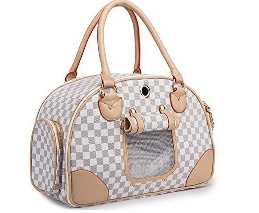 WOpetFashion Pet Dog Carrier PU Leather Dog Carriers Luxury Cat Travel Carrying