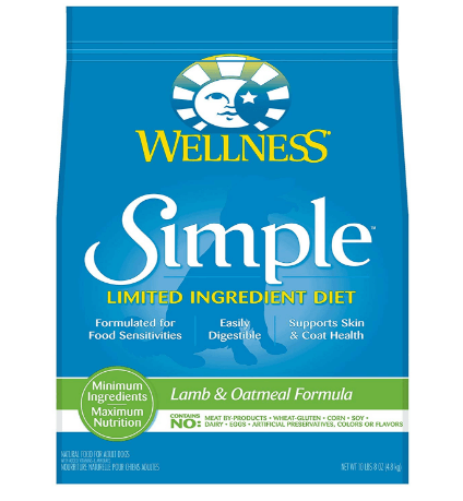 Wellness Simple Natural Dry Limited Ingredient Dog Food, Lamb & Oatmeal