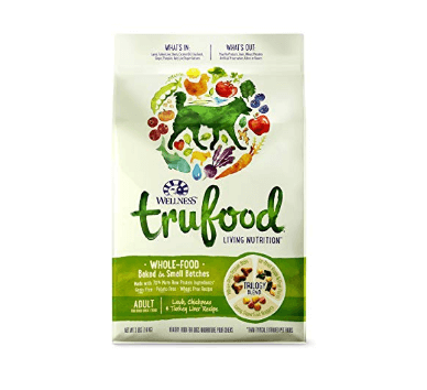 Wellness TruFood Baked Blends Natural Grain Free Dry Raw Dog Food, Lamb, Chickpeas
