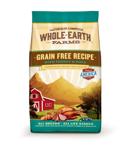 Whole Earth Farms Grain Free Turkey & Duck Dog Food