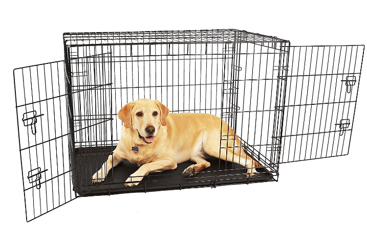 Carlson Compact and Secure Double Door Metal Dog Crate, Large