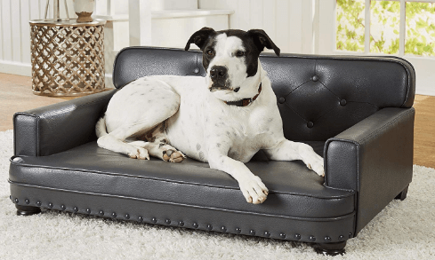 Enchanted Home Pet Library Grey Sofa Dog Bed