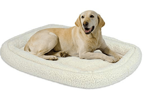 Midwest Homes For Pets Quiet Time Deluxe Fleece Double Bolster Bed