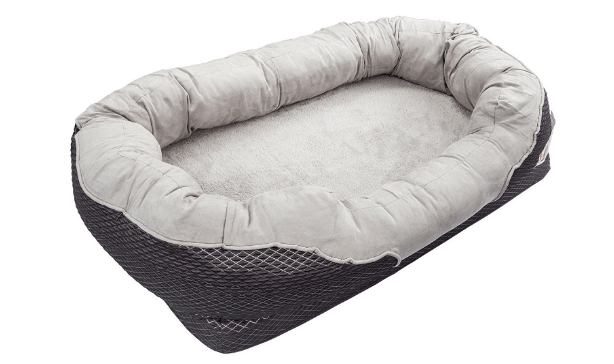 Large Gray Orthopedic Dog Bed
