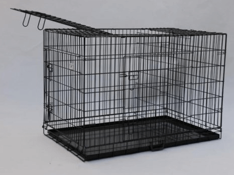 Best Pet Black 42 Triple-Door Suitcase Style Folding Metal Dog Crate