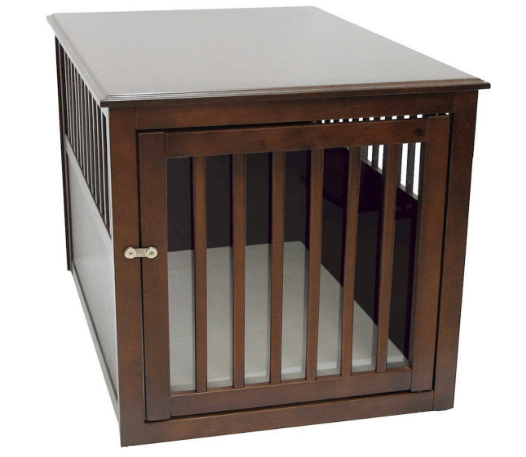 Crown Pet Products Pet Crate Wood Dog Crate Furniture End Table