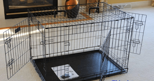 EliteField 3-Door Folding Dog Crate