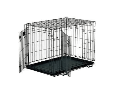 Petme Prima Durable Double Door Folding Dog Crate