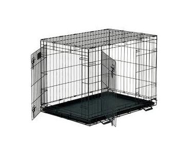 Petme Prima Durable Double Door Folding Dog Crate