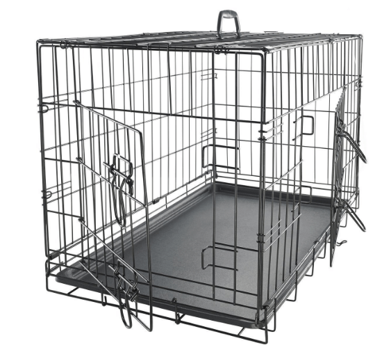 XXL Dog Crate Double-Door Folding Metal