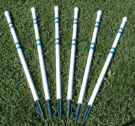 Agility Stick in the Ground 6 Pole Weave Set