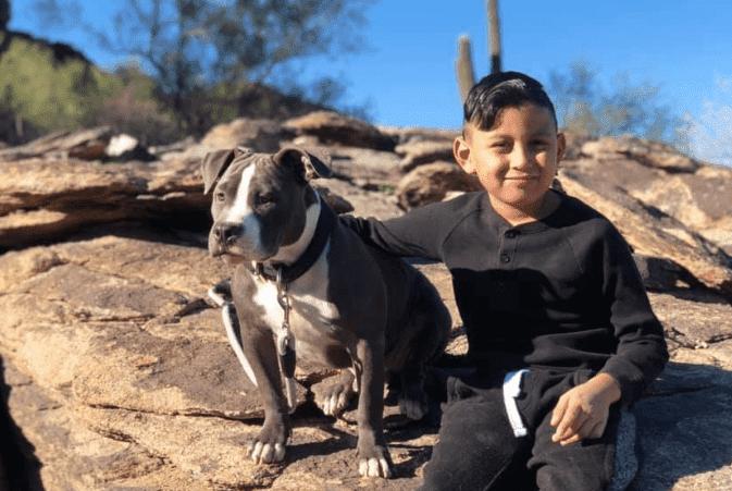 Dog with Boy